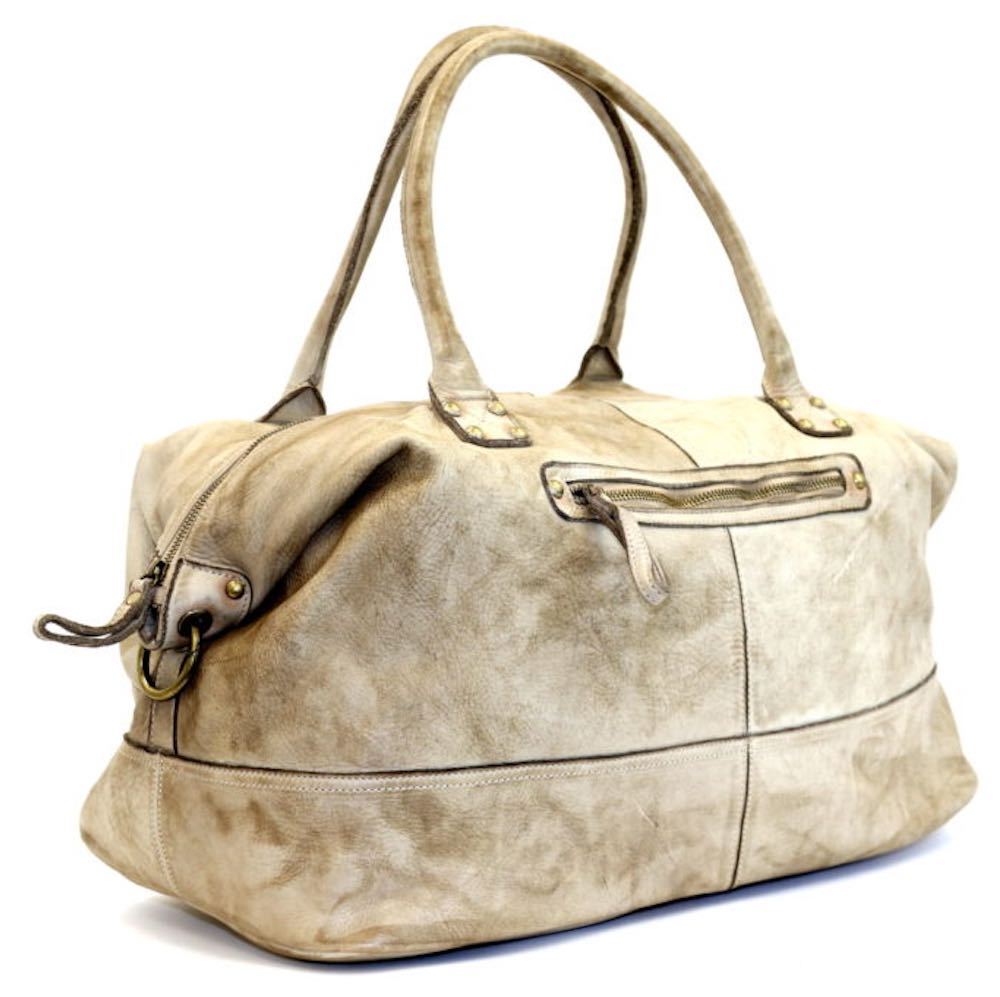 FIONA Large Duffle Weekender Travel Bag Stone