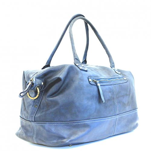 FIONA Large Duffle Weekender Travel Bag Denim