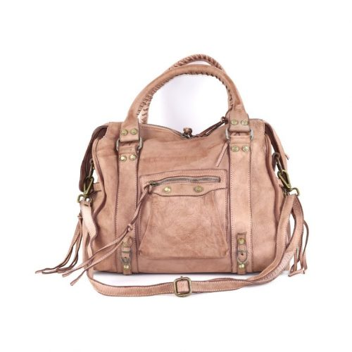 ISABELLA Hand Bag With Stitched Handle Blush