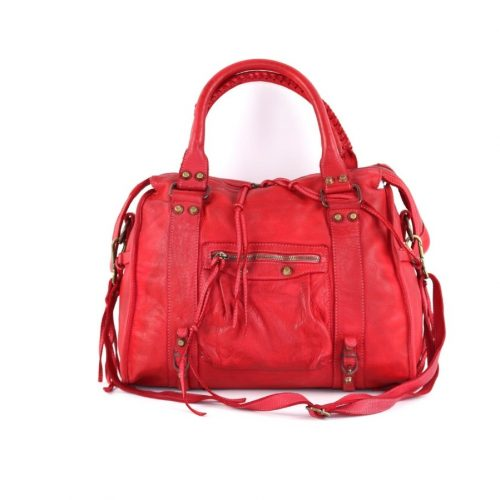 ISABELLA Hand Bag With Stitched Handle Red