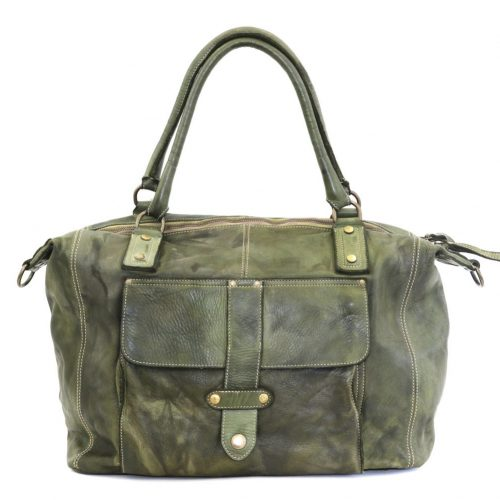 ADELE Satchel Style Bag Army