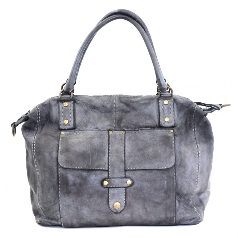 ADELE Satchel Style Bag Grey