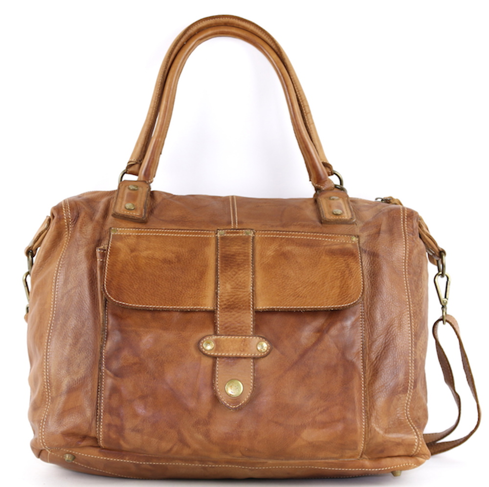 ADELE Satchel Style Bag Tan