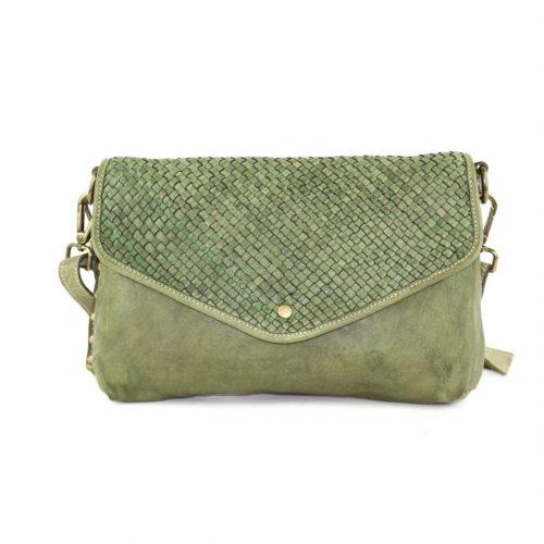 LAVINIA Envelope Clutch Bag Olive Green