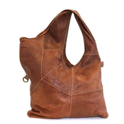 STEFANIA Asymmetric Shoulder Bag Tan