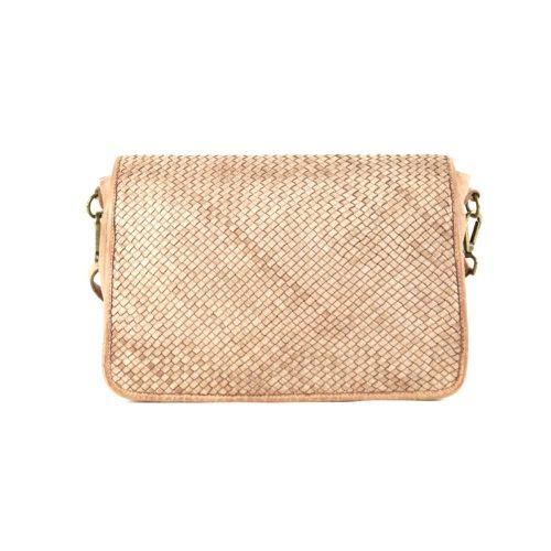 SILVIA Messenger Bag Woven Blush