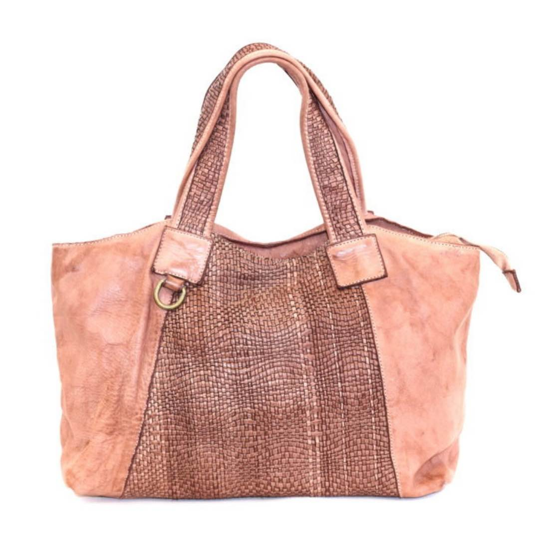 DARIA Hand Bag With Woven Detail Blush