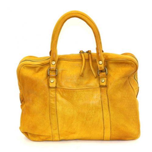CARLOTTA Laptop Hand Bag Mustard
