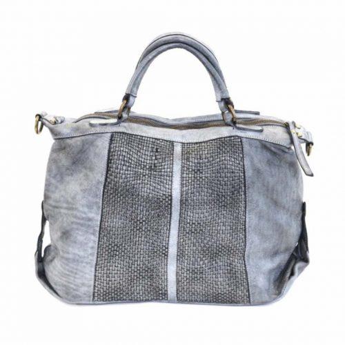 NADIA Hand Bag Woven Details Grey