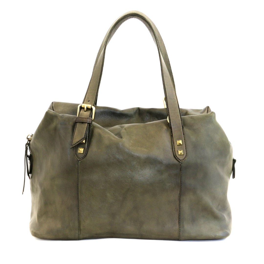 DANIELA Hand Bag With Buckle Detail Army