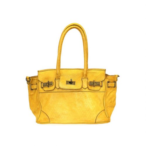 BABY ALICIA Small Structured Bag Mustard