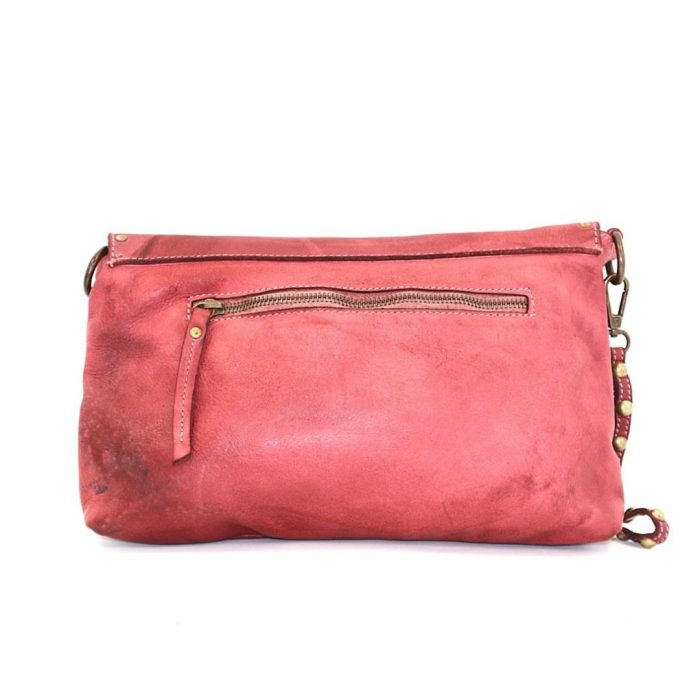 studded clutch bag red