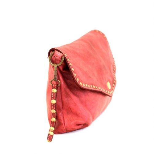 Lavinia Studded Clutch Bag Red