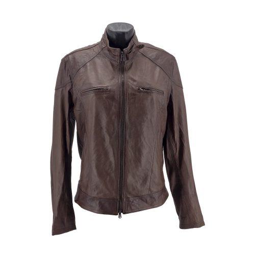Dark Brown Racer Leather Jacket