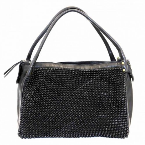 GIADA Hand Bag With Knot Weave Black