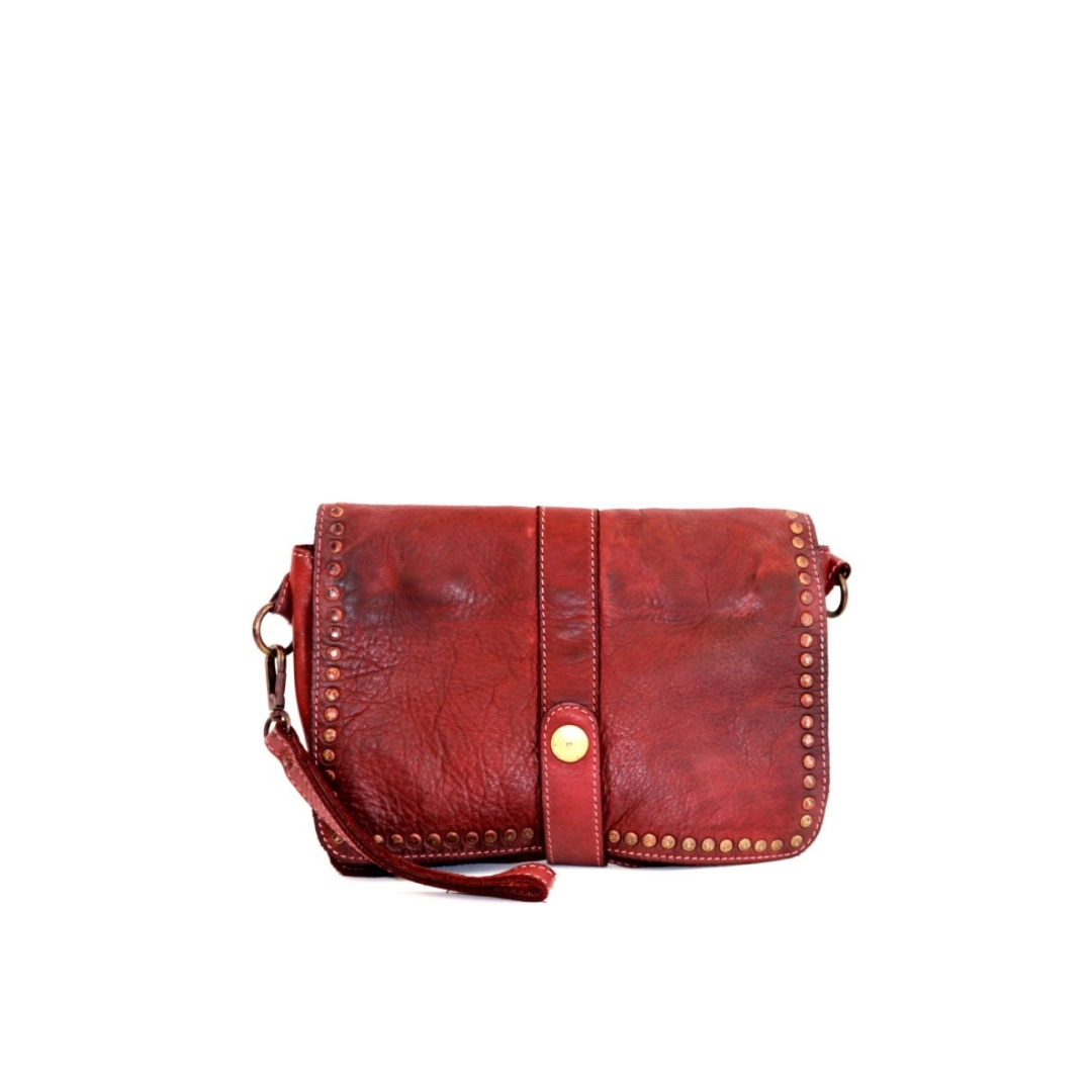 MARTINA Small Messenger Bag With Detail Bordeaux