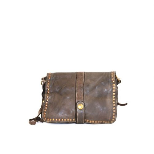 MARTINA Small Messenger Bag With Detail Dark Brown