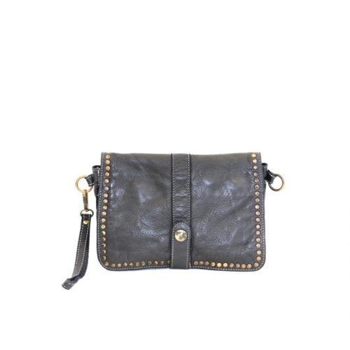 MARTINA Small Messenger Bag With Detail Black