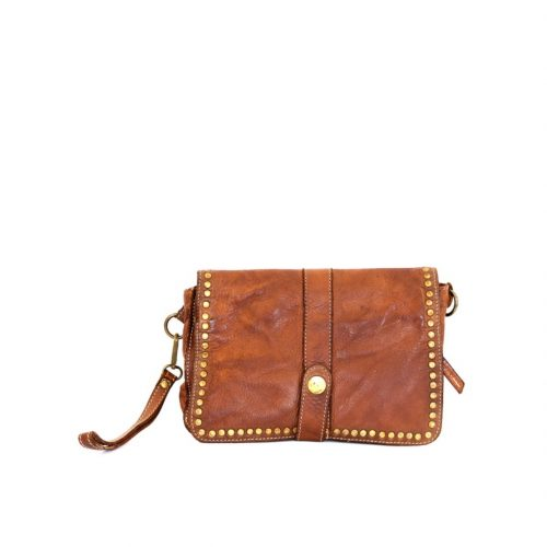 MARTINA Small Messenger Bag With Detail Tan