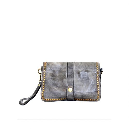 MARTINA Small Messenger Bag With Detail Grey