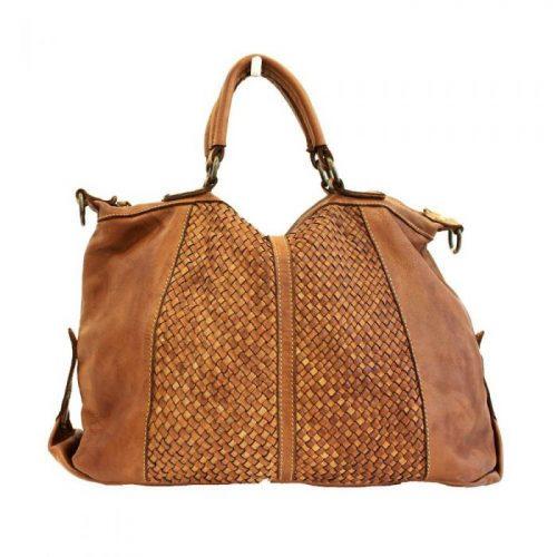 DIANA Woven Hand Bag Tan