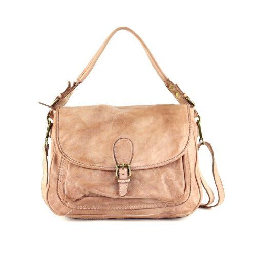 GINA Shoulder Bag With Front Buckle Blush