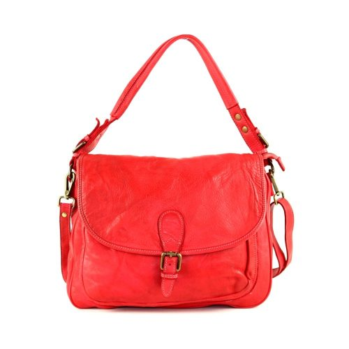 GINA Shoulder Bag With Front Buckle Red