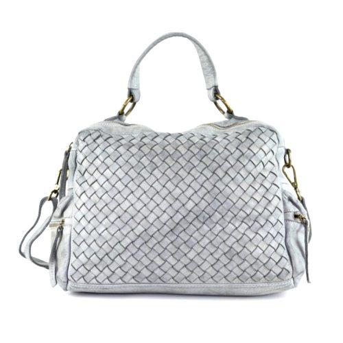DILETTA Hand Bag Woven Light Grey