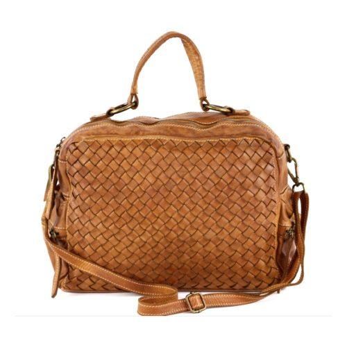 DILETTA Hand Bag Woven Tan
