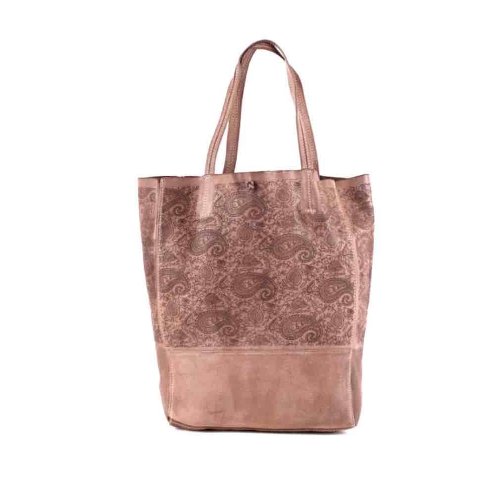 LEILA Shopper Bag With Paisley Pattern Blush
