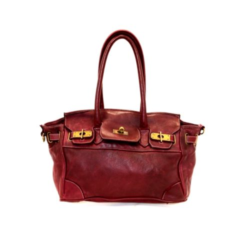 BABY ALICIA Small Structured Bag Bordeaux