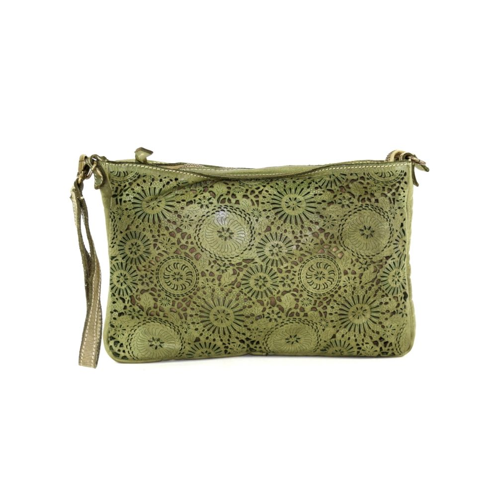 CLAUDIA Laser Clutch Wristlet Bag Army
