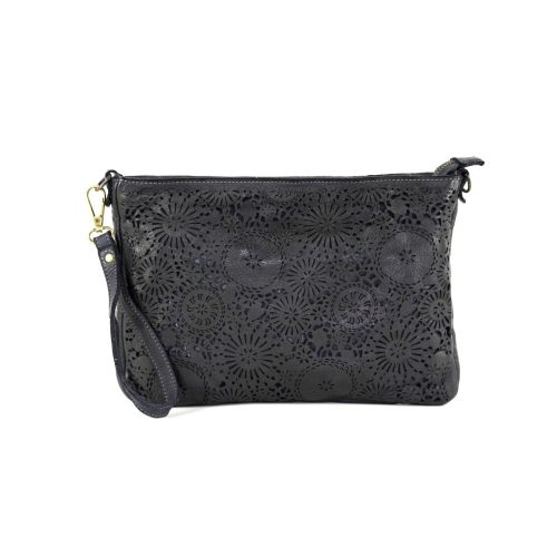 CLAUDIA Laser Clutch Wristlet Bag Black
