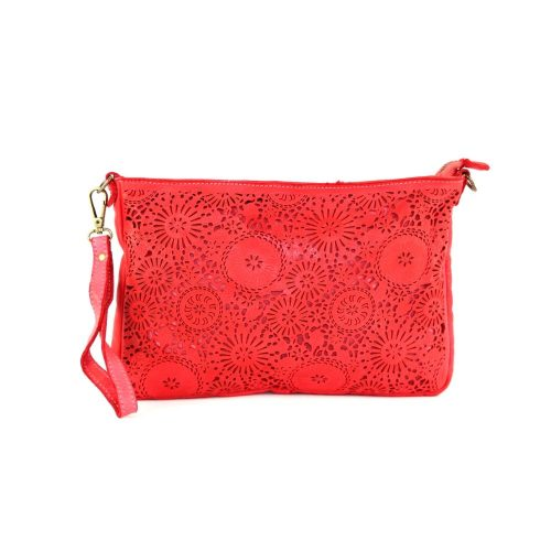 CLAUDIA Laser Clutch Wristlet Bag Red