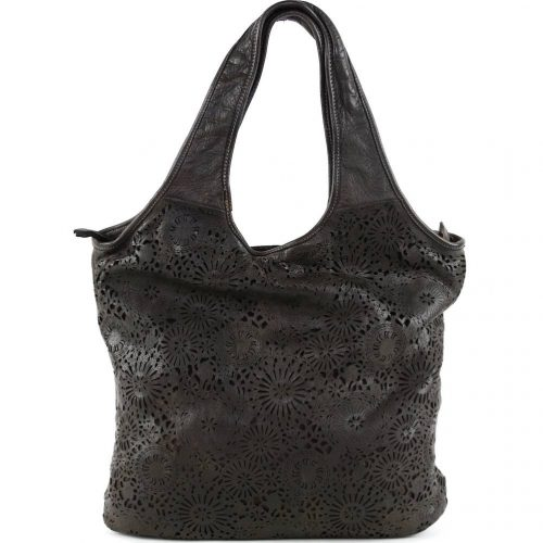 FIORELLA Shoulder Bag With Laser Cut Detail Black