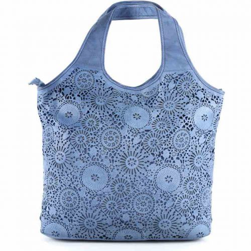 FIORELLA Shoulder Bag With Laser Cut Detail Denim