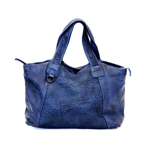 DARIA Hand Bag With Woven Detail Navy