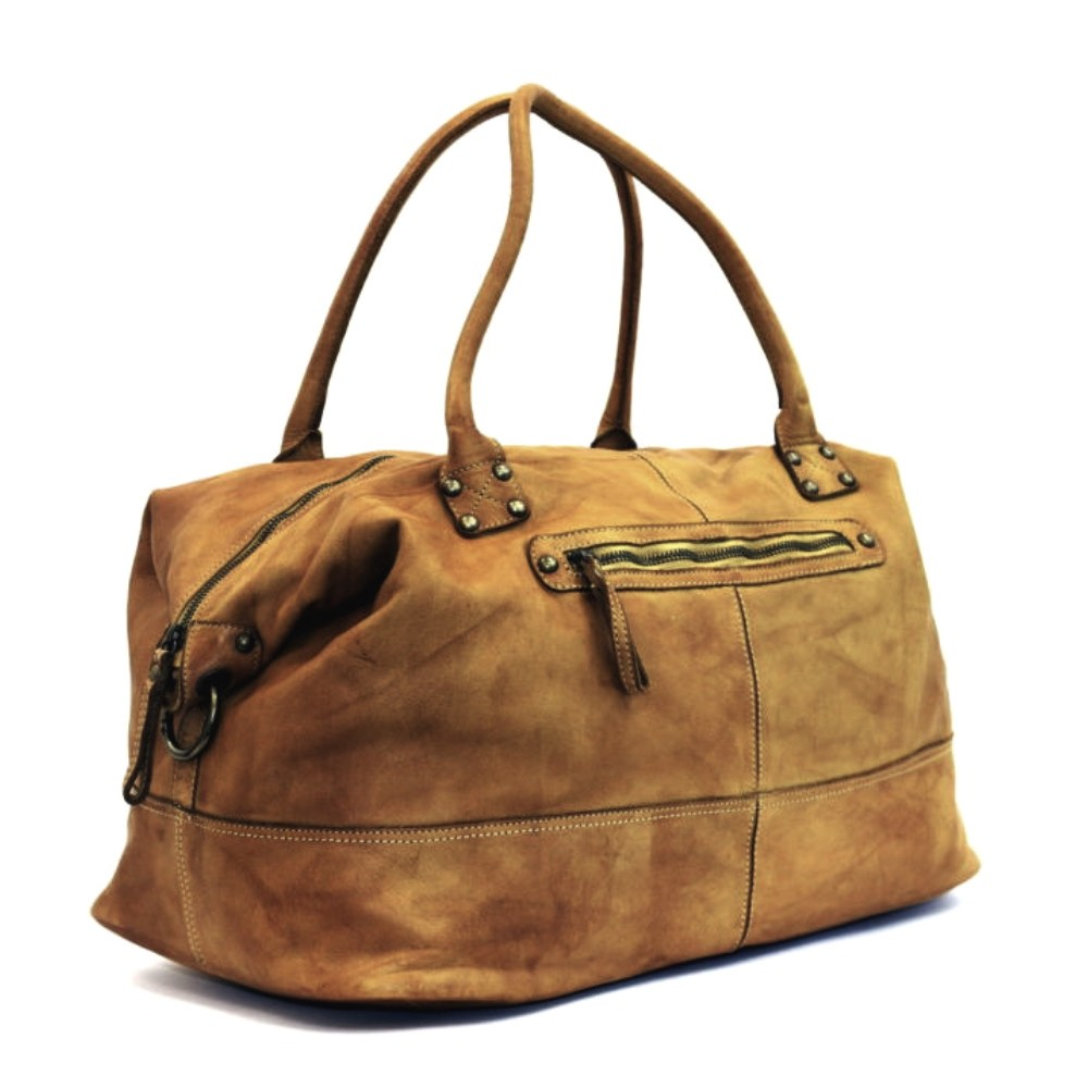 FIONA Large Duffle Weekender Travel Bag Tan