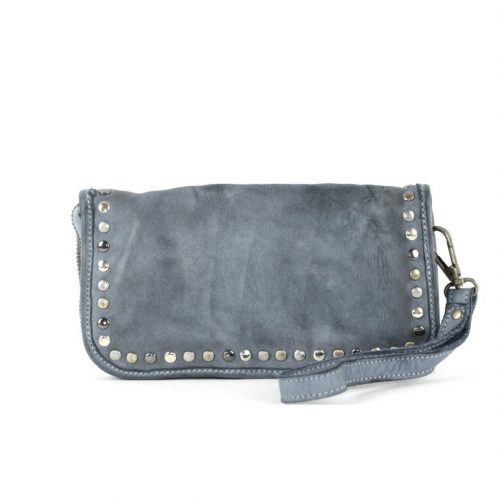 SIMONA Wrist Wallet With Studs Dark Grey