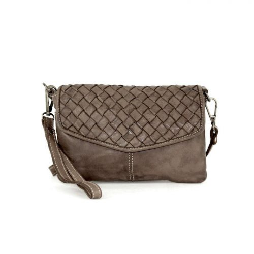 SELENE Wristlet Bag Dark Taupe