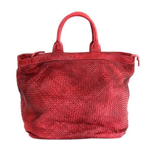 CHIARA Small Weave Tote Bag Bordeaux