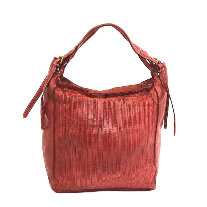 GIULIA Hobo Bag With Moon Laser Detail Bordeaux