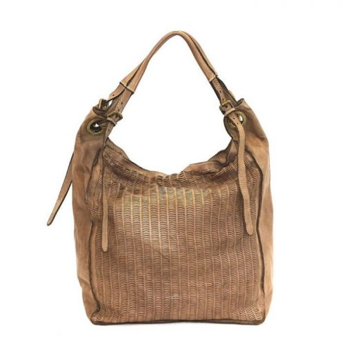 GIULIA Hobo Bag With Moon Laser Detail Taupe