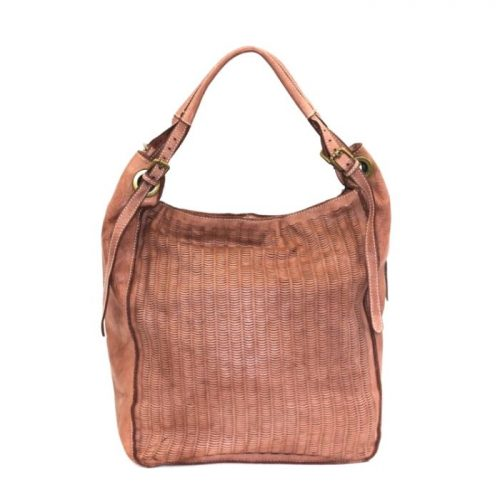 GIULIA Hobo Bag With Moon Laser Detail Blush
