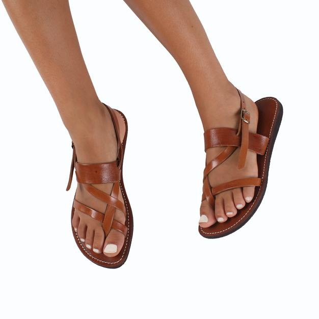 Kos Leather Sandals – Tan