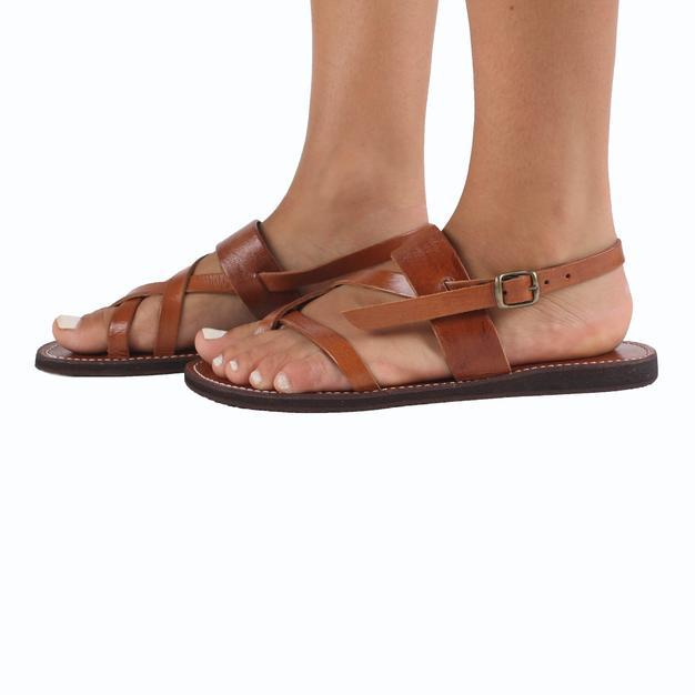 Kos Leather Sandals Tan