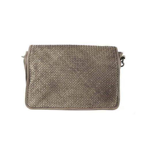 SILVIA Messenger Bag Woven Taupe