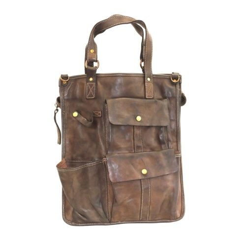 ROBYN Business Bag With Pockets Dark Brown