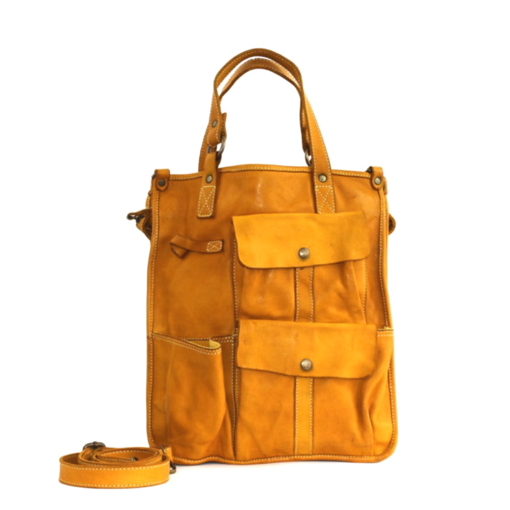 ROBYN Business Bag With Pockets Mustard