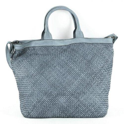 CHIARA Small Weave Tote Bag Dark Grey